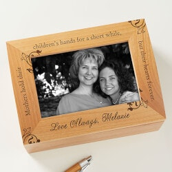 70th Birthday Gifts Under $50:Mother Photo Keepsake Box