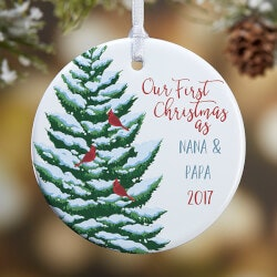 Gifts Under $10:Grandparents First Christmas Custom Ornament