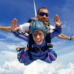Outdoor Birthday Gifts:Tandem Skydiving