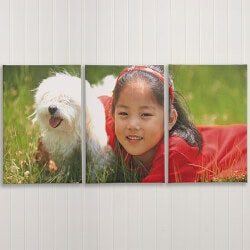 Personalized Gifts for Boys:Split Canvas Photo Prints - 3 Panels - 24x26