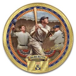 Babe Ruth Commemorative Porcelain Collector..