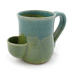 Stoneware Pottery Tea Mug With Pocket