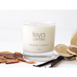 Feya Candle Co.: All-Natural Soy Wax Candle..
