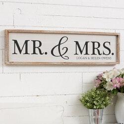 Personalized Barnwood Wall Art - Mr & Mrs