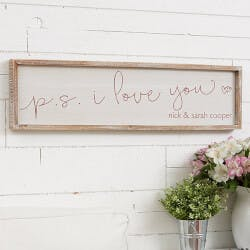 P.S. I Love You Personalized Barnwood Frame..