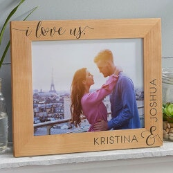 I Love Us 8x10 Personalized Picture Frame
