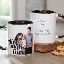Gifts Under $10:Graphic Overlay Personalized Photo Coffee..