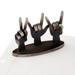 Peace, Love & Rock N Roll Desktop Sculpture