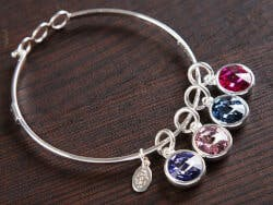 Float Jewelry: Crystal Birthstone Bracelet -..