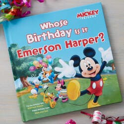 Personalized Mickey Mouse Kids Birthday Book