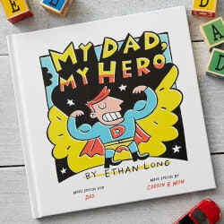 Unique 70th Birthday Gifts:Personalized Kids Books - My Dad, My Hero