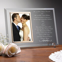 Wedding Gifts:Personalized Wedding Invitation Glass..