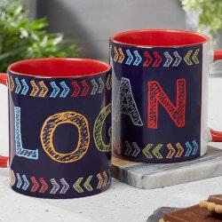 Gifts Under $10:Personalized Kids Mug - Stencil Name - 11oz..