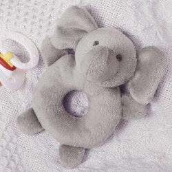 Gifts for Grandson:Grey Elephant Baby Rattle