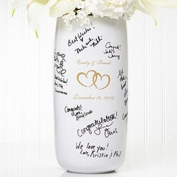 Personalized Signature Wedding Vase - Joined..