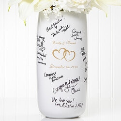 Personalized Signature Wedding Vase - Joined..