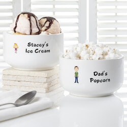 Personalized Gifts:Personalized Ice Cream Bowls - Family..