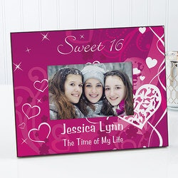 Gifts for Teenage Girls:Sweet Sixteen Personalized Birthday Picture..