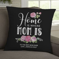 Home Is Where Mom Is Personalized 18 Throw..