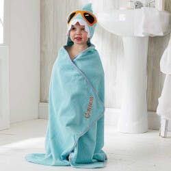 Personalized Shark Hooded Bath Towel