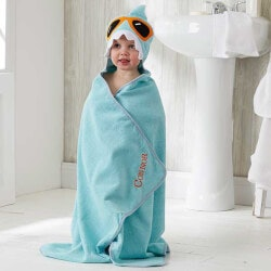 Gifts for Grandson:Personalized Shark Hooded Bath Towel