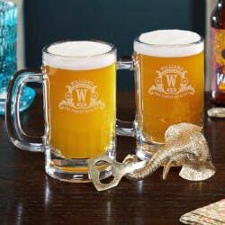 Westbrook Monogrammed Beer Mugs And Bottle..