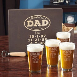 Gifts for Grandfather:Beer Glass Gift Set