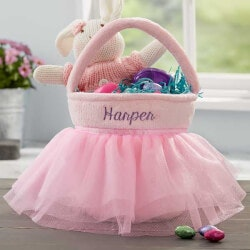 Personalized Gifts for 5 Year Old:Pink Tutu Personalized Easter Basket