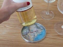 CHART Metalworks: Wine Bottle Coaster