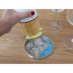Travel Gifts:Custom Map Coasters