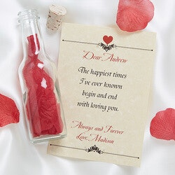 Personalized Christmas Gifts for Husband:Letter In A Bottle