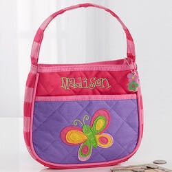 Girls Personalized Butterfly Purse &..
