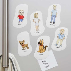 Personalized Gifts (Under $10):Our Family Characters Personalized Magnets