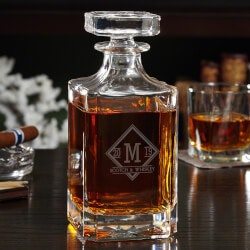 Engraved Glass Liquor Decanter