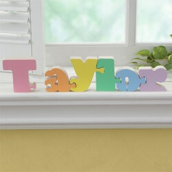 Personalized Gifts:Girls Personalized Wooden Name Puzzle