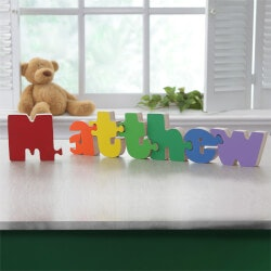 Personalized Gifts:Boys Personalized Wooden Name Puzzle