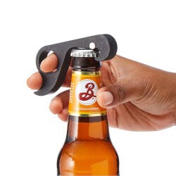 One Handed Beer Opener
