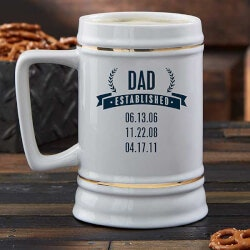 Personalized Beer Stein - Date Established