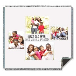Photography Gifts:Four Photo Collage Personalized Woven Throw..