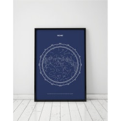 Hipster Birthday Gifts for Men (Under $50):Personalized Star Map