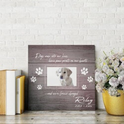 Gifts for Dog Lovers:Paw Prints On Our Hearts