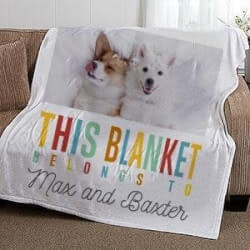 Gifts for Dog Lovers:Personalized Pet Fleece Blanket
