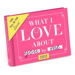 Romantic Gifts:What I Love About You Fill In The Love Journal