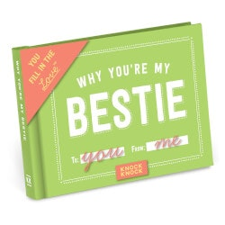40th Birthday Gifts for Friends:Why Youre My Bestie Fill In The Love Journal