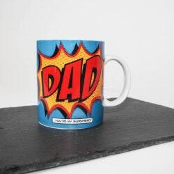 Fathers Day Gifts:Comic Book Dad Mug