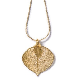 Stocking Stuffers (Under $50):Real Aspen Leaf Necklace
