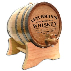 Unusual Retirement Gifts for Dad:Personalized Whiskey Barrel