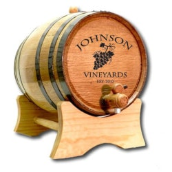 Christmas Gifts Under $100:Personalized Wine Barrel