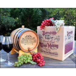Unusual Retirement Gifts for Dad:Wine Making Kit With Barrel