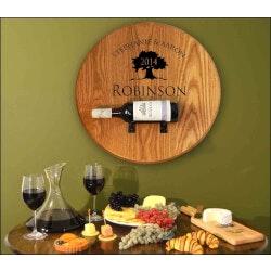 Wine Gifts:Barrel Head Bottle Holder